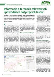Informacje o terenach zalewowych